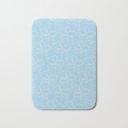 pattern blue Bath Mat