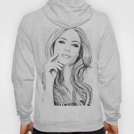 Xenia Tchoumitcheva Portrait of an angel Hoody