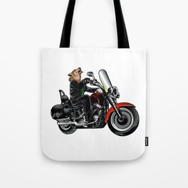 Wolf on the motorcycle Tote Bag