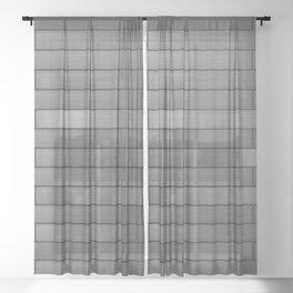 Monochrome Wood Sheer Curtain