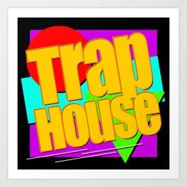 Trap House Square Logo Art Print