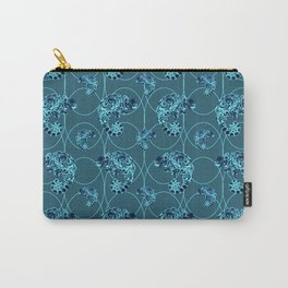 Chameleon Oneness in Midnight Vintage Psychedelic Blue Space Carry-All Pouch