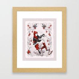 Red Winter Framed Art Print