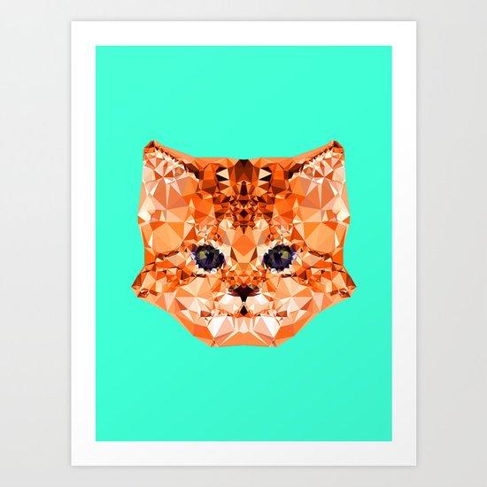 Geometric Kitten Art Print