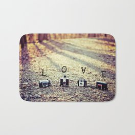 Meeting in the Forest - Vintage Camera Love Bath Mat