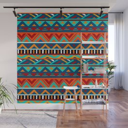 Affrican pattern, abstract geometric pattern Wall Mural