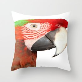 A Beautiful Bird Harlequin Macaw Portrait Background Removed Throw Pillow