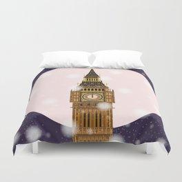 London Christmas Eve Duvet Cover