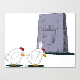 Fallen Chicken Memorial Canvas Print