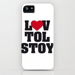 Lev LOVE Tolstoy iPhone Case