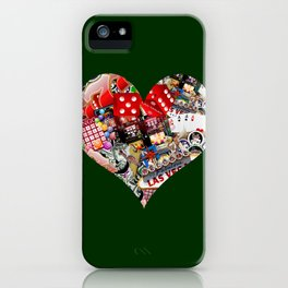 Heart Playing Card Shape - Las Vegas Icons iPhone Case