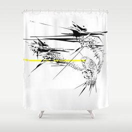 Holy Weapon // (Glitch Owl) Shower Curtain