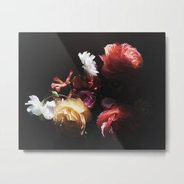 Dark Moody Flowers Metal Print
