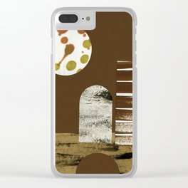 Night Desert Dwelling Clear iPhone Case