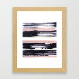 Black stripe Framed Art Print