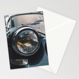 Close Up Of Car Headlight Stationery Cards