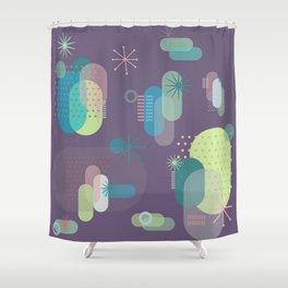 Intergalactic Cactus Shower Curtain