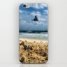 Beach Butterflies iPhone Skin