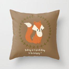 Renard roux // Red fox Throw Pillow
