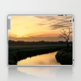 Beautiful scenic view of the sunset in the Ticino river natural park during fall Laptop & iPad Skin