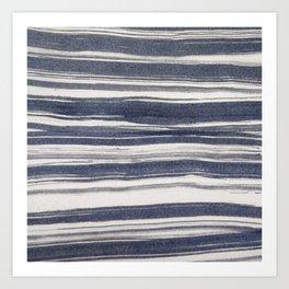 Brush stroke stripes Art Print