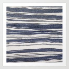 Brush stroke stripes Art Print