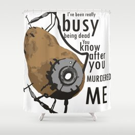 Glados Potato Shower Curtain