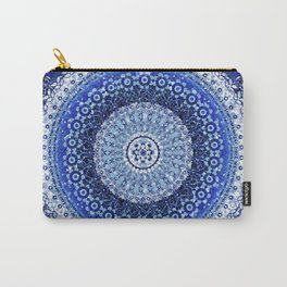 Cobalt Tapestry Mandala Carry-All Pouch