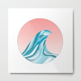 Blue Wave Off The Coast 1 Metal Print