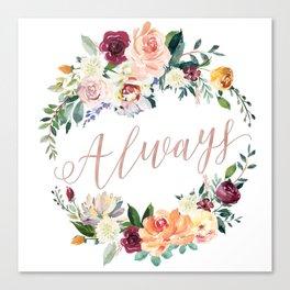Always - Rose Gold Canvas Print