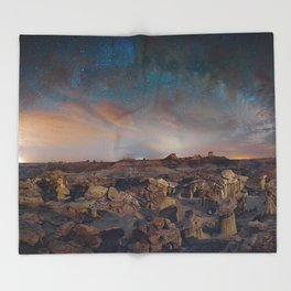 Exploring the Bisti Badlands of New Mexico Throw Blanket