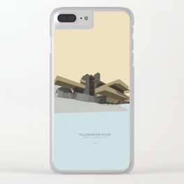 Fallingwater house Clear iPhone Case