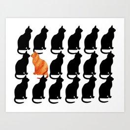 ODD CAT OUT Art Print