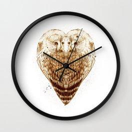Owl Heart Wall Clock