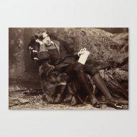 oscar wilde Canvas Prints featuring Oscar Wilde by TilenHrovatic