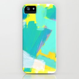 Be Kind, Be OK - mint modern mint abstract painting pastel colors iPhone Case