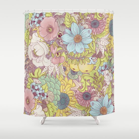 the wild side - summer tones Shower Curtain