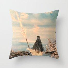 Atlantean Priestess Throw Pillow