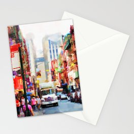 Chinatown in New York Stationery Cards