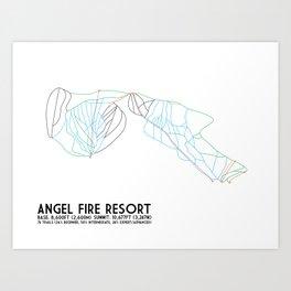 Angel Fire, NM - Minimalist Trail Maps Art Print