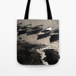 Boats in the Ganges Tote Bag