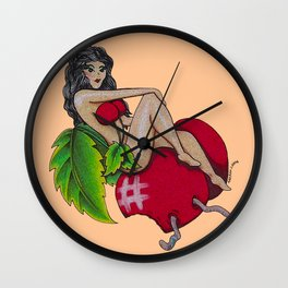 Bad Cherry Wall Clock