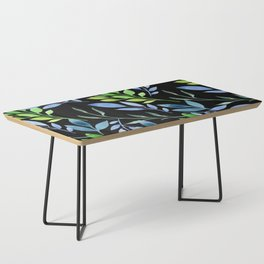 Blue and Green Leaves Coffee Table