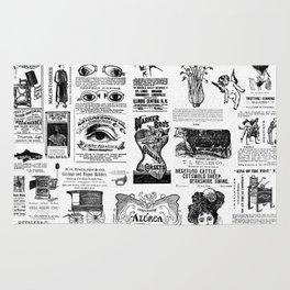 Vintage Victorian Ads Rug