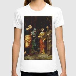"Antonio Allegri da Correggio ""Saints Peter, Martha, Mary Magdalen, and Leonard"" T-shirt"
