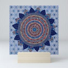 Baroque Lapis Mandala Mini Art Print