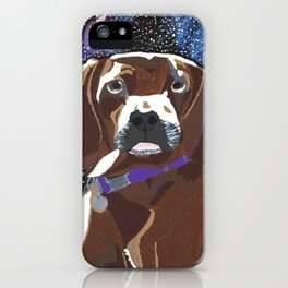 Dog in Space iPhone Case