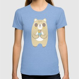 Cute Bear Holding a Plant T-shirt