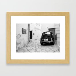 Time travel in Martina Franca Framed Art Print