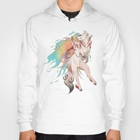 okami Hoodies featuring OKAMI SHIRANUI by Morguesque